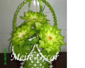Cesta de Croch� com Flores