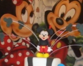 Enfeite de bolo do Mickey ou Minnie