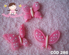 C�d 286 Molde de borboletas P c/ 3 pe�as