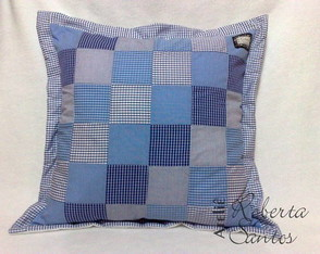Almofada de patchwork - PRONTA ENTREGA