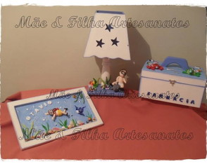 Kit Beb� Fundo do Mar 6 Pe�as