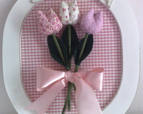 porta maternidade tulipas