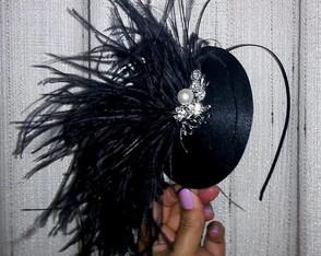 Tiara Casquete Cisne Negro