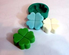 Molde de silicone - Trevo de 4 folhas