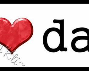 ~ Plaquinha/Little Plate I ♥ dad ~