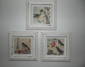 Trio de quadros proven�ais Shabby