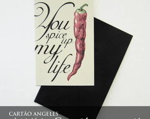 Cart�o Vintage - You Spice Up My Life