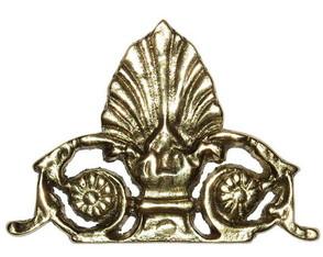 Aplique Flor de Liz em Bronze