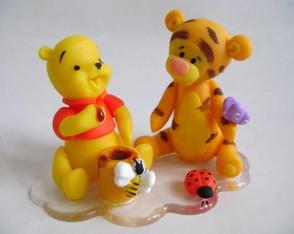 Lembrancinha do Pooh e Tigr�o na base