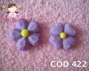 C�d 422 Molde com 2 flores