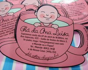 Convite personalizado ch� de beb�