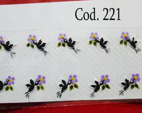 Beija-Flor preto com flor lil�s