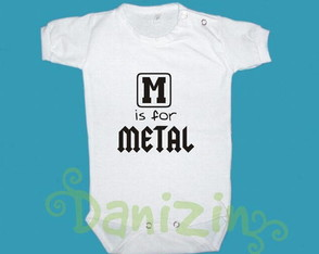 t-shirt-bebe-e-infantil-m-is-for-metal