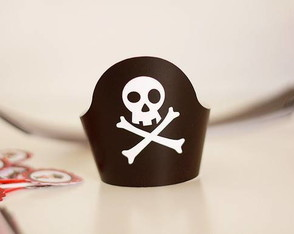 Wrappers De Cupcake Pirata