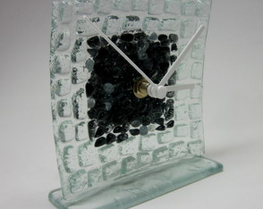 Relogio De Vidro - Mesa / Glass Clock
