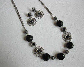 Conjunto Black Flower