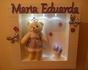 NICHO QUADRADO COM LED-MARIA EDUARDA.