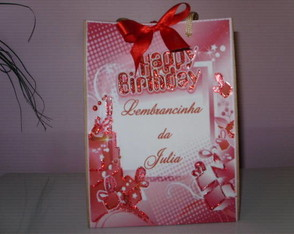 Sacolinha Personalizada Happy Birthday