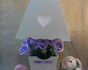 Abajur com flores