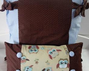 kit capa de almofada + almofada coruja M