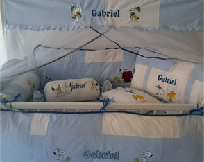 KIT DE BER�O BORDADO SNOOPY