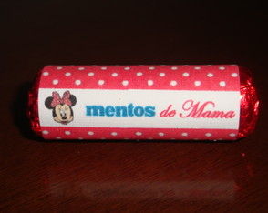 Mini mentos personalizado minnie