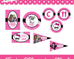 Papelaria Festa Monster High