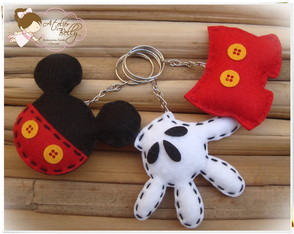 "Chaveiros ou �m�s Do ""Mickey Mouse"""