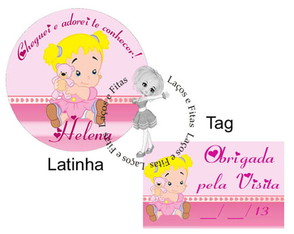 R�tulo Latinha Mint To Be + Tag