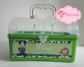 Maleta Pl�stica Mickey Safari 01