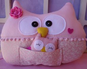 Almofada Mam�e coruja - Baby Girl