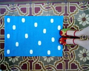 Tapete - Azul com Nuvens