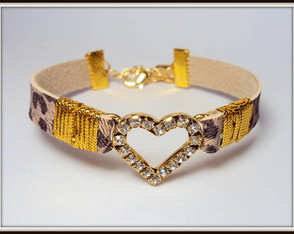 Pulseira On�a Strass