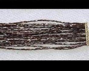 Pulseira Mi�angas Marrom Metalizado (18)