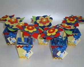 Vasinhos com l�pis-flor Princesas 10unds