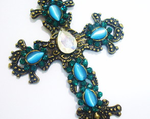 Colar Crucifixo Vintage