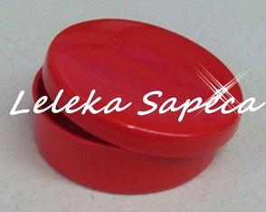 Latinha acr�lica vermelha dim5x5 -cx50p�