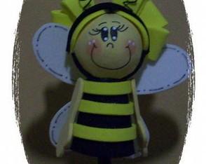 Ponteira de l�pis menina abelhinha