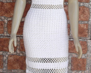 vestido de croch� sabrina