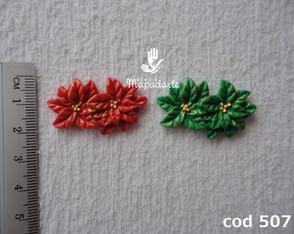 Cod 507 Molde de flor dupla