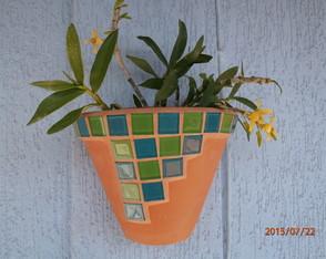 Vaso de Parede com Mosaico(tam. G)