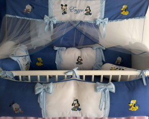KIT PROTETOR DE BER�O E CORTINA MICKEY