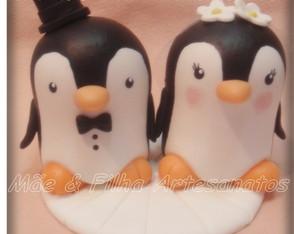 Noivinhos Casal Pinguim