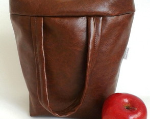 Lunch Bag T�rmica G ecocouro marrom