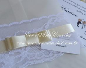 Convite Vintage Com La�o Chanel