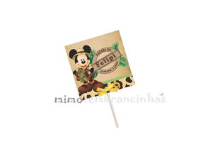 Capa Pirulito Mickey Safari