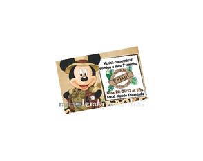 Convite 10x15cm Mickey Safari