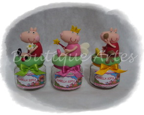 Lembrancinhas potinho Peppa Pig