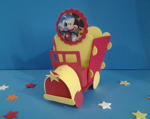 Enfeite De Mesa Trem do Mickey