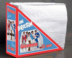 Porta guardanapo One Direction
